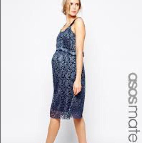 7d82879b8ad5 ASOS Maternity Dresses | Nwt Blue Lace Dress | Poshmark